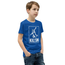 Load image into Gallery viewer, Kill Sin - Youth T-Shirt - The Reformed Sage - reformed - reformed gifts - christian gifts - christian hoodie - christian apparel - christian decor - christian art -
