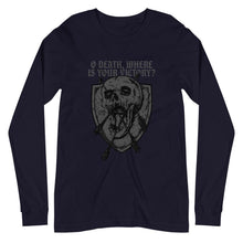 Load image into Gallery viewer, O Death - Long Sleeve - The Reformed Sage - reformed - reformed gifts - christian gifts - christian hoodie - christian apparel - christian decor - christian art -