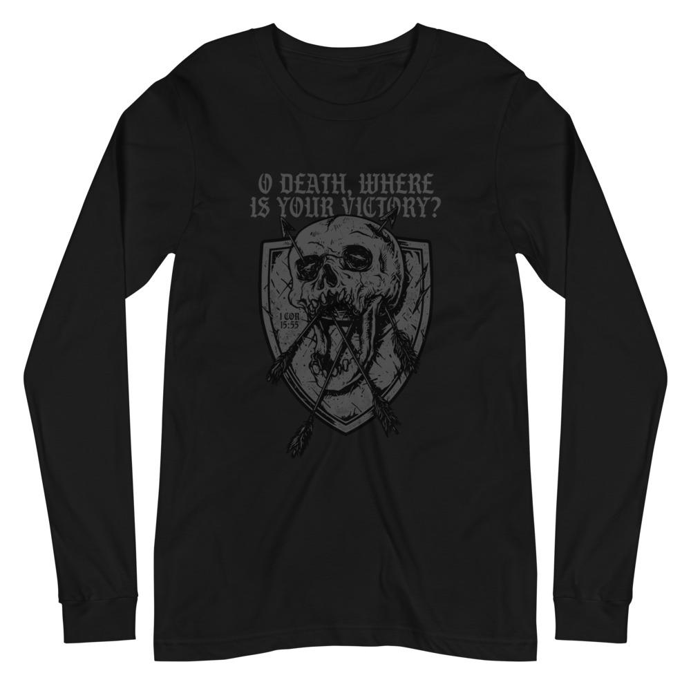 O Death - Long Sleeve - The Reformed Sage - reformed - reformed gifts - christian gifts - christian hoodie - christian apparel - christian decor - christian art -