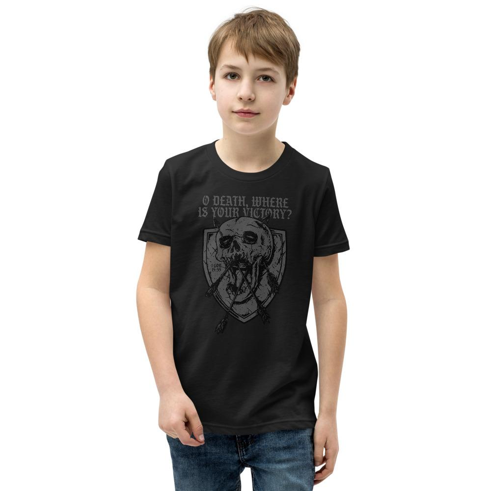 O Death - Youth T-Shirt - The Reformed Sage - reformed - reformed gifts - christian gifts - christian hoodie - christian apparel - christian decor - christian art -