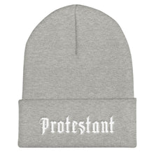 Load image into Gallery viewer, Protestant - Beanie - Beanie - The Reformed Sage - reformed - reformed gifts - christian gifts - christian hoodie - christian apparel - christian decor - christian art -