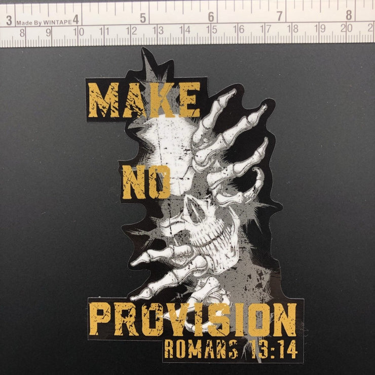 Provision - Decal - Decal - The Reformed Sage - reformed - reformed gifts - christian gifts - christian hoodie - christian apparel - christian decor - christian art -