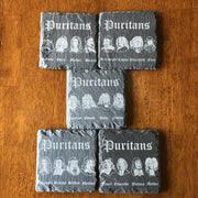 Puritans - Slate Coaster - Slate Coaster - The Reformed Sage - reformed - reformed gifts - christian gifts - christian hoodie - christian apparel - christian decor - christian art -