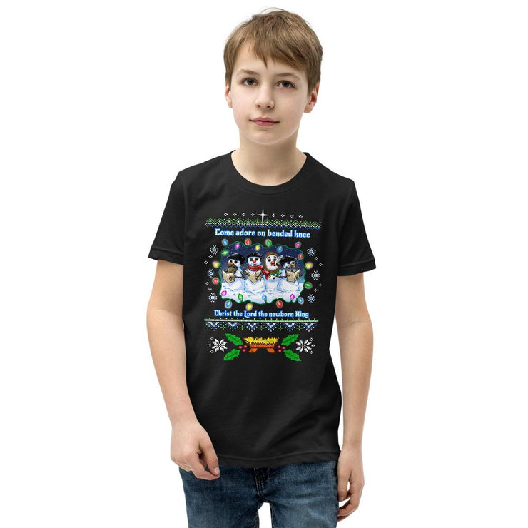 Reformed Snowman Ugly Christmas Kids Shirt - Reformed Ugly Christmas Shirts - The Reformed Sage - reformed - reformed gifts - christian gifts - christian hoodie - christian apparel - christian decor - christian art -