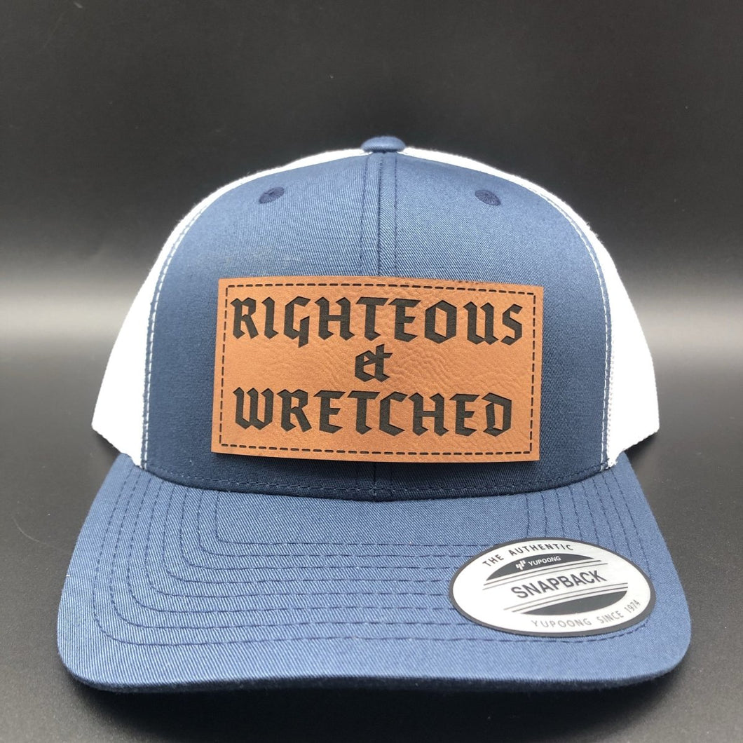 Righteous et Wretched - Hat - The Reformed Sage - reformed - reformed gifts - christian gifts - christian hoodie - christian apparel - christian decor - christian art -