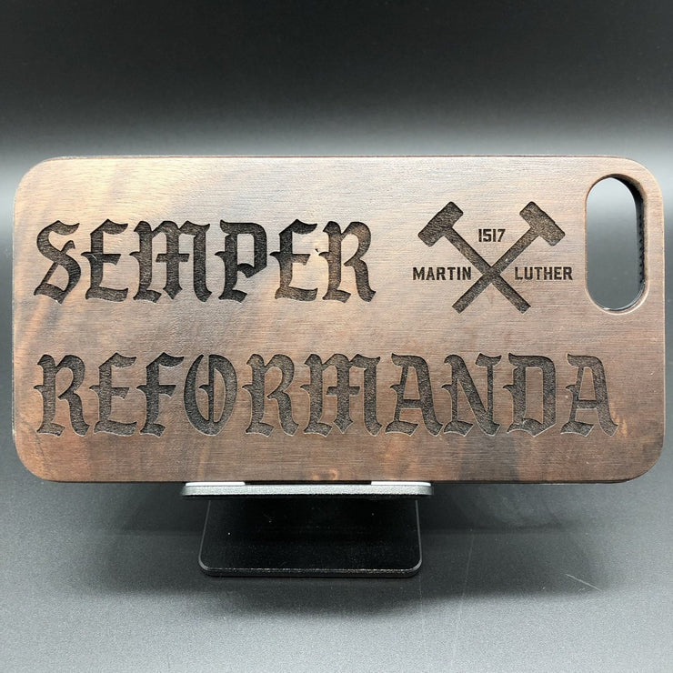 Semper Reformanda - Engraved - ECPC - The Reformed Sage - reformed - reformed gifts - christian gifts - christian hoodie - christian apparel - christian decor - christian art -