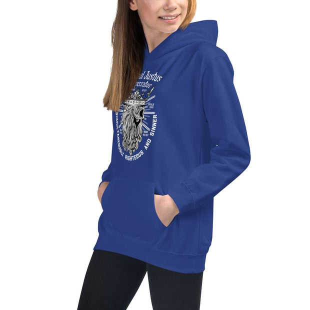 Simul Justus - Kids Hoodie - The Reformed Sage - reformed - reformed gifts - christian gifts - christian hoodie - christian apparel - christian decor - christian art -