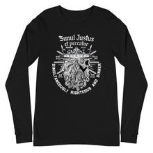 Load image into Gallery viewer, Simul Justus - Long Sleeve Tee - The Reformed Sage - reformed - reformed gifts - christian gifts - christian hoodie - christian apparel - christian decor - christian art -