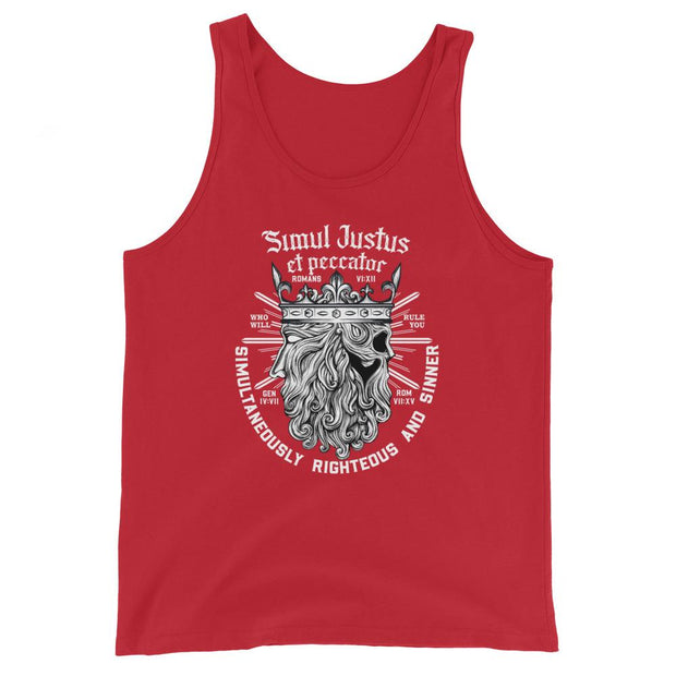 Simul Justus - Tank - The Reformed Sage - reformed - reformed gifts - christian gifts - christian hoodie - christian apparel - christian decor - christian art -