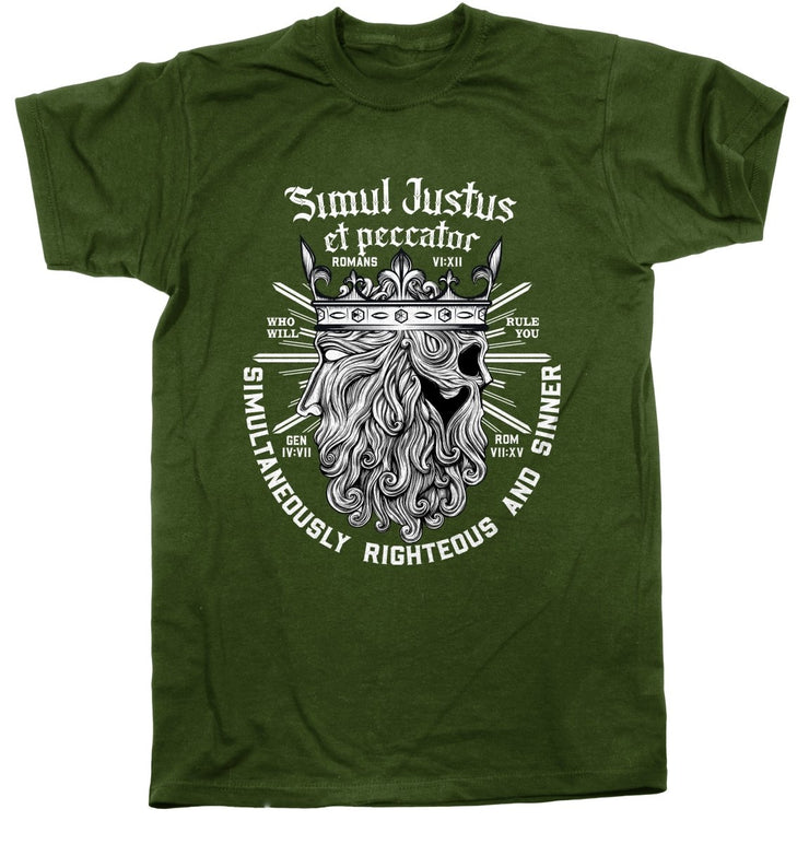 Simul Justus - Tee - Shirt - The Reformed Sage - reformed - reformed gifts - christian gifts - christian hoodie - christian apparel - christian decor - christian art -