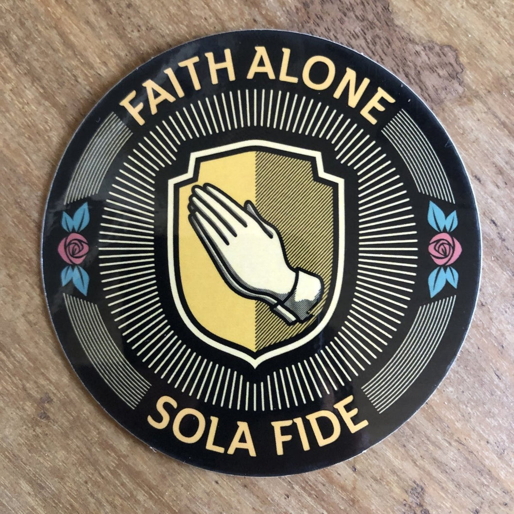 Sola Fide Seal - Decal - Decal - The Reformed Sage - reformed - reformed gifts - christian gifts - christian hoodie - christian apparel - christian decor - christian art -