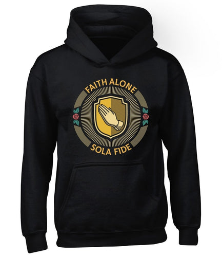 Sola Fide Seal - Hoodie - Hoodie - The Reformed Sage - reformed - reformed gifts - christian gifts - christian hoodie - christian apparel - christian decor - christian art -