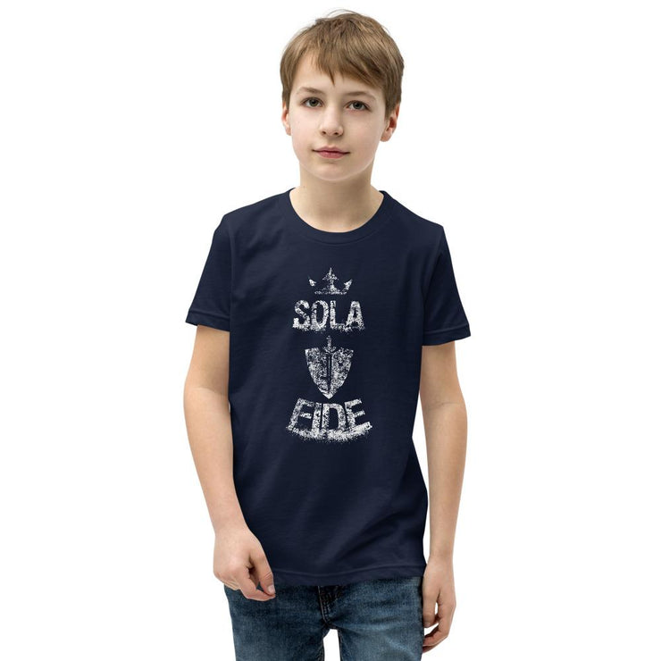 Sola Fide - Youth T-Shirt - The Reformed Sage - reformed - reformed gifts - christian gifts - christian hoodie - christian apparel - christian decor - christian art -