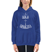 Load image into Gallery viewer, Sola Gratia - Kids Hoodie - The Reformed Sage - reformed - reformed gifts - christian gifts - christian hoodie - christian apparel - christian decor - christian art -
