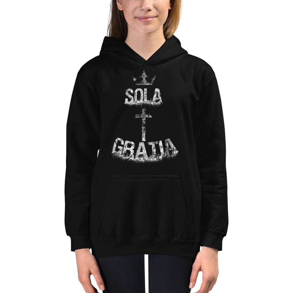Sola Gratia - Kids Hoodie - The Reformed Sage - reformed - reformed gifts - christian gifts - christian hoodie - christian apparel - christian decor - christian art -