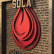 Sola Gratia - Layered Art - The Reformed Sage - reformed - reformed gifts - christian gifts - christian hoodie - christian apparel - christian decor - christian art -