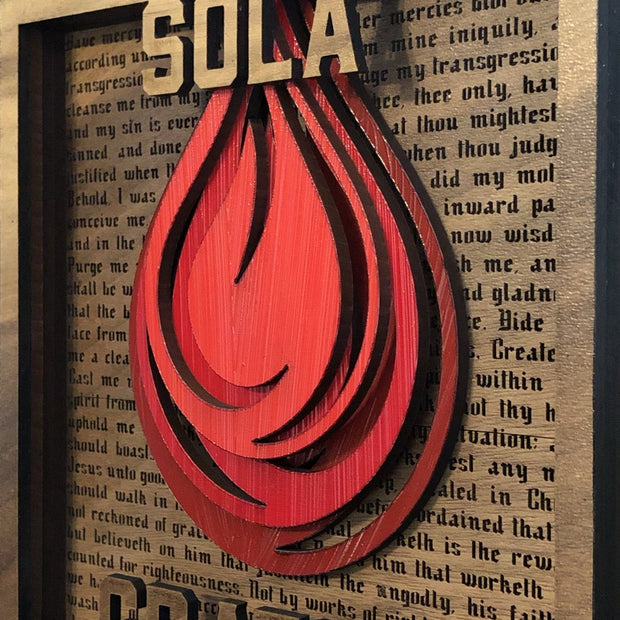 Sola Gratia - Layered Art - The Reformed Sage - reformed