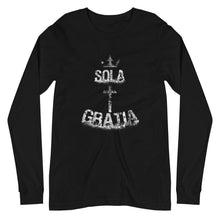 Load image into Gallery viewer, Sola Gratia - Long Sleeve - The Reformed Sage - reformed - reformed gifts - christian gifts - christian hoodie - christian apparel - christian decor - christian art -