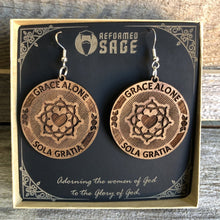 Load image into Gallery viewer, Sola Gratia Seal - Earrings - Earring - The Reformed Sage - reformed - reformed gifts - christian gifts - christian hoodie - christian apparel - christian decor - christian art -
