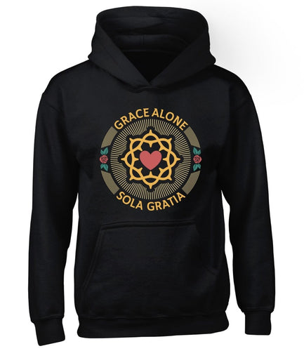Sola Gratia Seal - Hoodie - Hoodie - The Reformed Sage - reformed - reformed gifts - christian gifts - christian hoodie - christian apparel - christian decor - christian art -