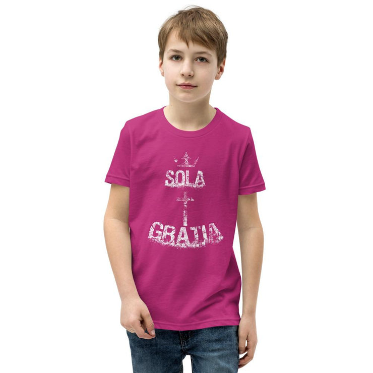Sola Gratia - Youth T-Shirt - The Reformed Sage - reformed - reformed gifts - christian gifts - christian hoodie - christian apparel - christian decor - christian art -