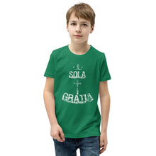 Load image into Gallery viewer, Sola Gratia - Youth T-Shirt - The Reformed Sage - reformed - reformed gifts - christian gifts - christian hoodie - christian apparel - christian decor - christian art -