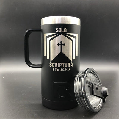 Sola Scriptura 16oz - 16oz tumbler - The Reformed Sage - reformed - reformed gifts - christian gifts - christian hoodie - christian apparel - christian decor - christian art -