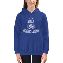 Load image into Gallery viewer, Sola Scriptura - Kids Hoodie - The Reformed Sage - reformed - reformed gifts - christian gifts - christian hoodie - christian apparel - christian decor - christian art -