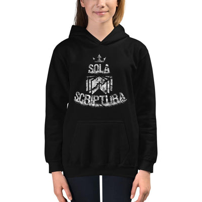 Sola Scriptura - Kids Hoodie - The Reformed Sage - reformed - reformed gifts - christian gifts - christian hoodie - christian apparel - christian decor - christian art -