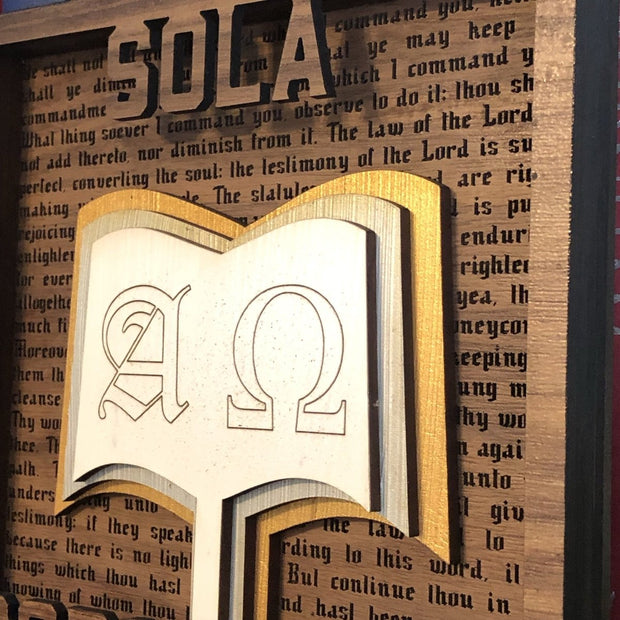 Sola Scriptura - Layered Art - The Reformed Sage - reformed