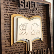 Sola Scriptura - Layered Art - The Reformed Sage - reformed - reformed gifts - christian gifts - christian hoodie - christian apparel - christian decor - christian art -