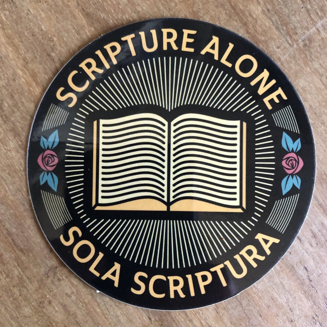 Sola Scriptura Seal - Decal - Decal - The Reformed Sage - reformed - reformed gifts - christian gifts - christian hoodie - christian apparel - christian decor - christian art -