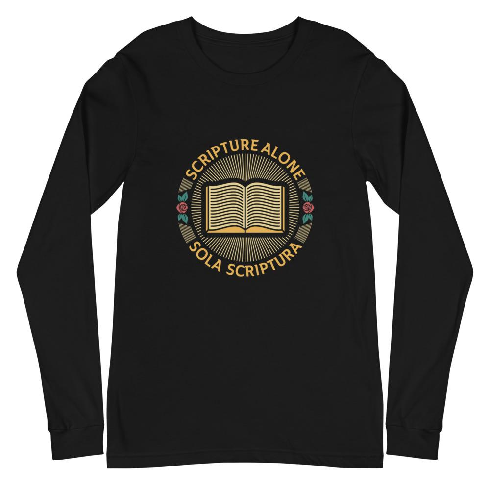 Sola Scriptura Seal - Long Sleeve - The Reformed Sage - reformed - reformed gifts - christian gifts - christian hoodie - christian apparel - christian decor - christian art -