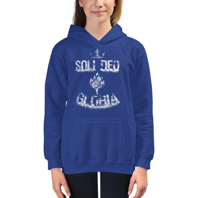 Soli Deo Gloria - Kids Hoodie - The Reformed Sage - reformed - reformed gifts - christian gifts - christian hoodie - christian apparel - christian decor - christian art -
