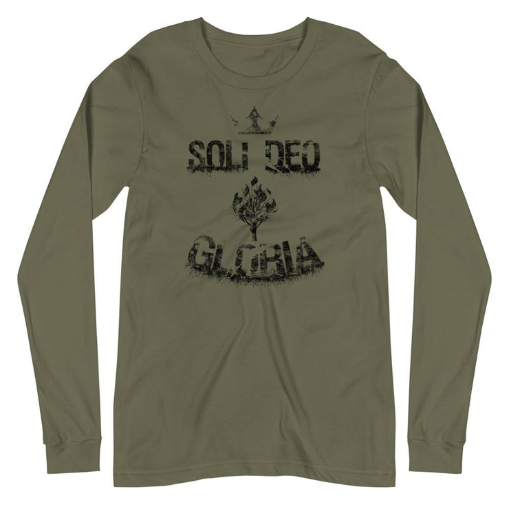 Soli Deo Gloria - Long Sleeve - The Reformed Sage - reformed - reformed gifts - christian gifts - christian hoodie - christian apparel - christian decor - christian art -