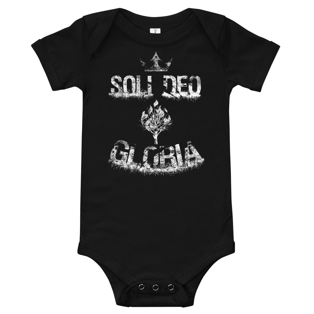 Soli Deo Gloria - onesie - The Reformed Sage - reformed - reformed gifts - christian gifts - christian hoodie - christian apparel - christian decor - christian art -