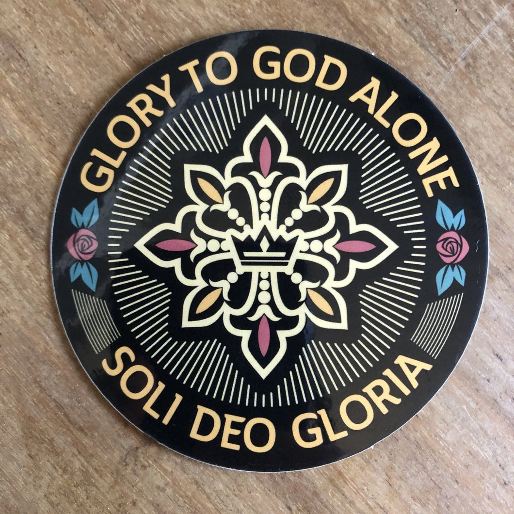 Soli Deo Gloria Seal - Decal - Decal - The Reformed Sage - reformed - reformed gifts - christian gifts - christian hoodie - christian apparel - christian decor - christian art -