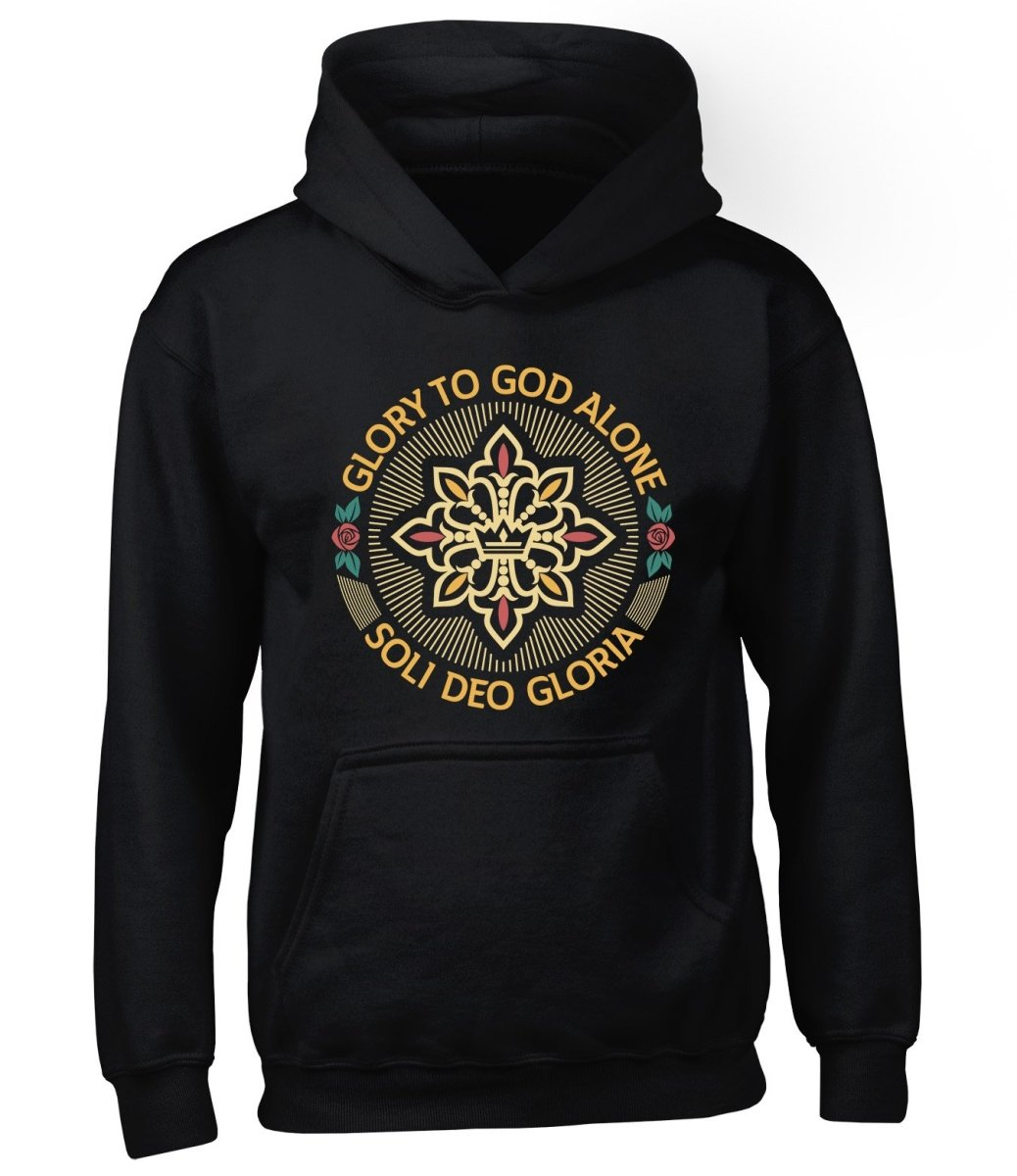 Soli Deo Gloria Seal - Hoodie - Hoodie - The Reformed Sage - reformed - reformed gifts - christian gifts - christian hoodie - christian apparel - christian decor - christian art -