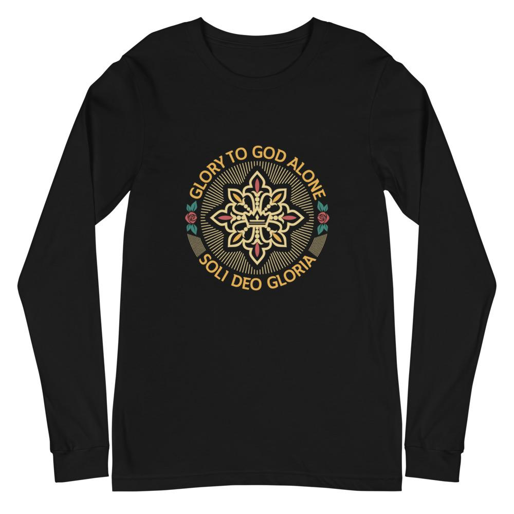 Soli Deo Gloria Seal - Long Sleeve - The Reformed Sage - reformed - reformed gifts - christian gifts - christian hoodie - christian apparel - christian decor - christian art -