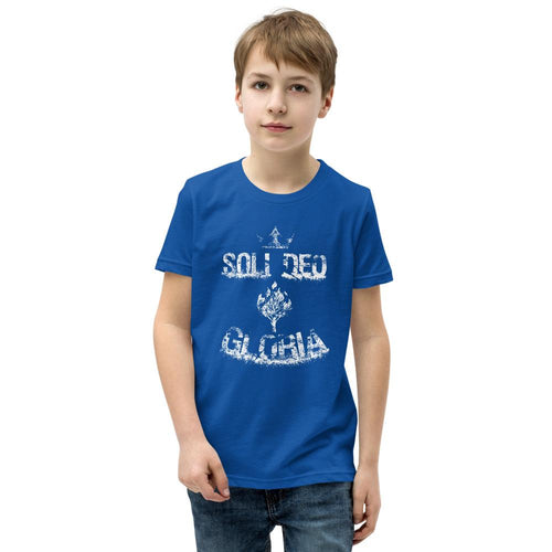 Soli Deo Gloria - Youth T-Shirt - The Reformed Sage - reformed - reformed gifts - christian gifts - christian hoodie - christian apparel - christian decor - christian art -
