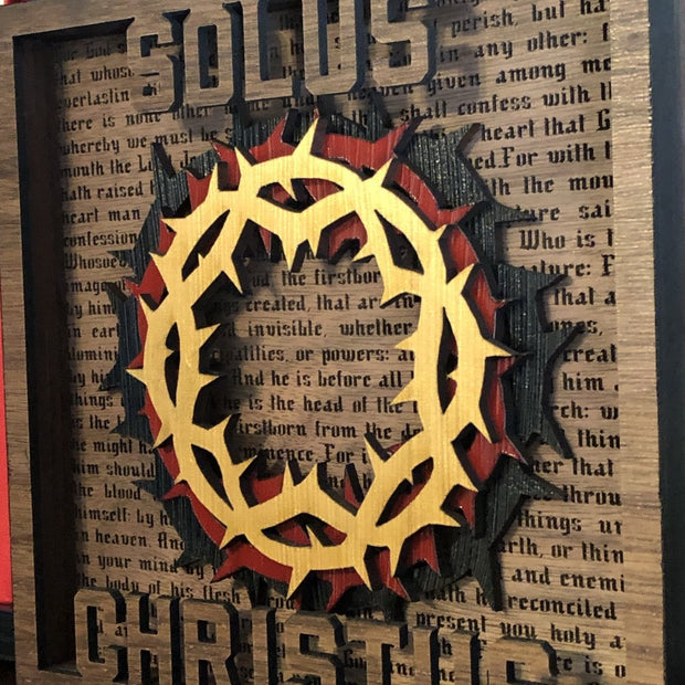 Solus Christus - Layered Art - The Reformed Sage - reformed