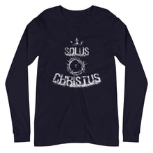 Load image into Gallery viewer, Solus Christus - Long Sleeve Tee - The Reformed Sage - reformed - reformed gifts - christian gifts - christian hoodie - christian apparel - christian decor - christian art -