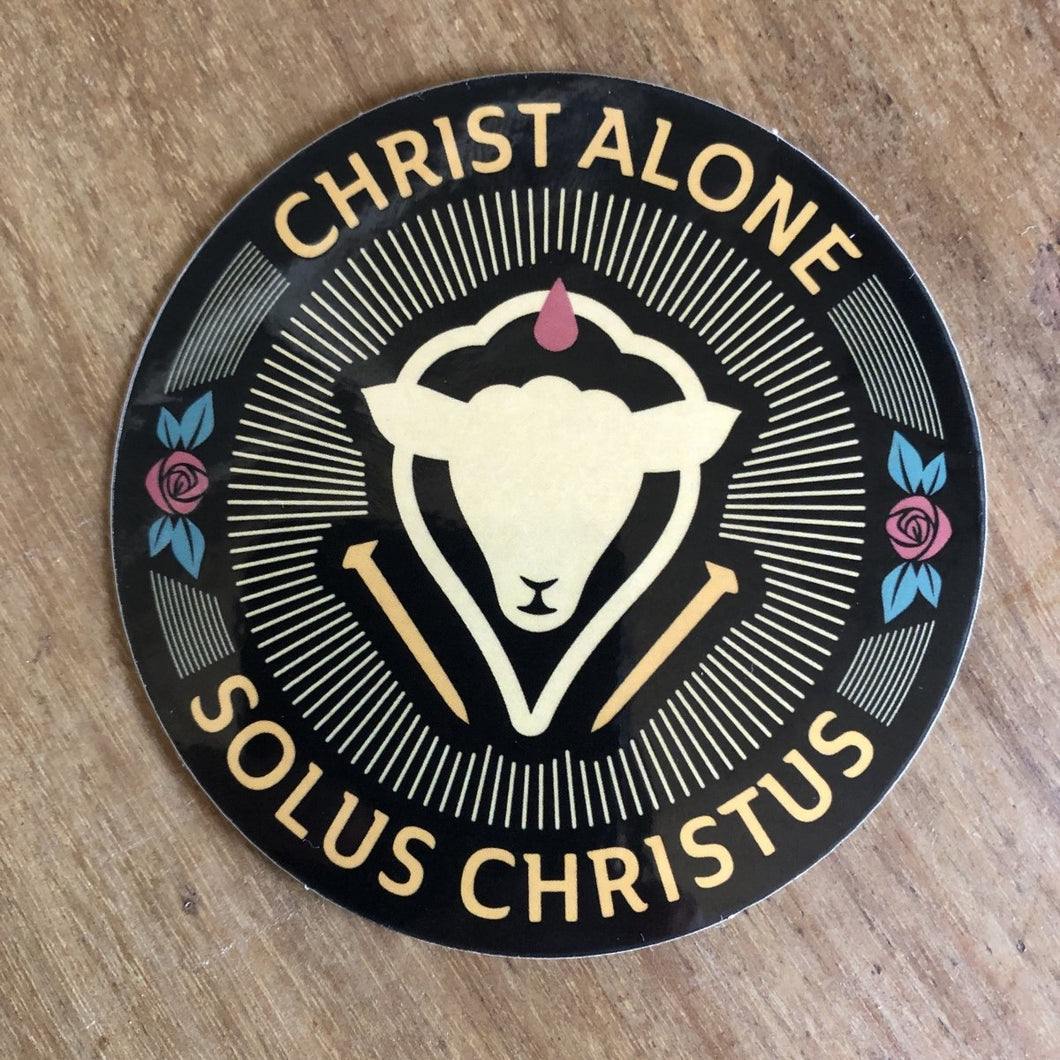 Solus Christus Seal - Decal - Decal - The Reformed Sage - reformed - reformed gifts - christian gifts - christian hoodie - christian apparel - christian decor - christian art -