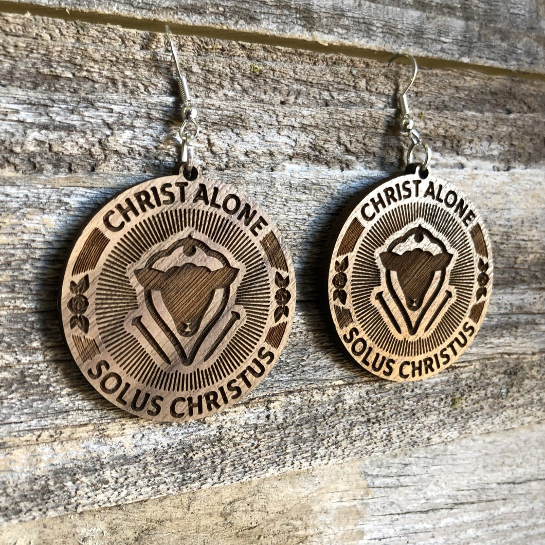 Solus Christus Seal - Earrings - Earring - The Reformed Sage - reformed - reformed gifts - christian gifts - christian hoodie - christian apparel - christian decor - christian art -