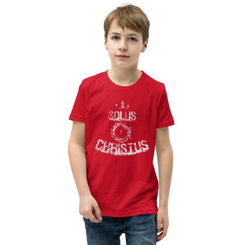 Solus Christus - Youth T-Shirt - The Reformed Sage - reformed - reformed gifts - christian gifts - christian hoodie - christian apparel - christian decor - christian art -