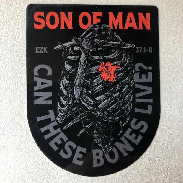 Son of Man - Decal - Decal - The Reformed Sage - reformed - reformed gifts - christian gifts - christian hoodie - christian apparel - christian decor - christian art -