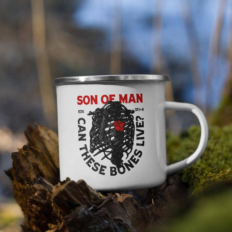 Son of Man - Enamel Mug - The Reformed Sage - reformed - reformed gifts - christian gifts - christian hoodie - christian apparel - christian decor - christian art -