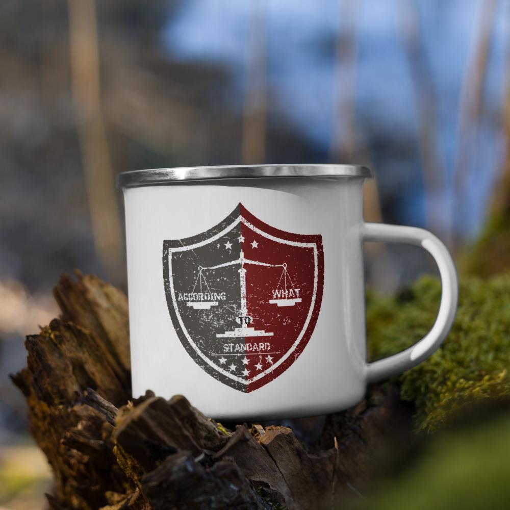 Standard - Enamel Mug - The Reformed Sage - reformed - reformed gifts - christian gifts - christian hoodie - christian apparel - christian decor - christian art -