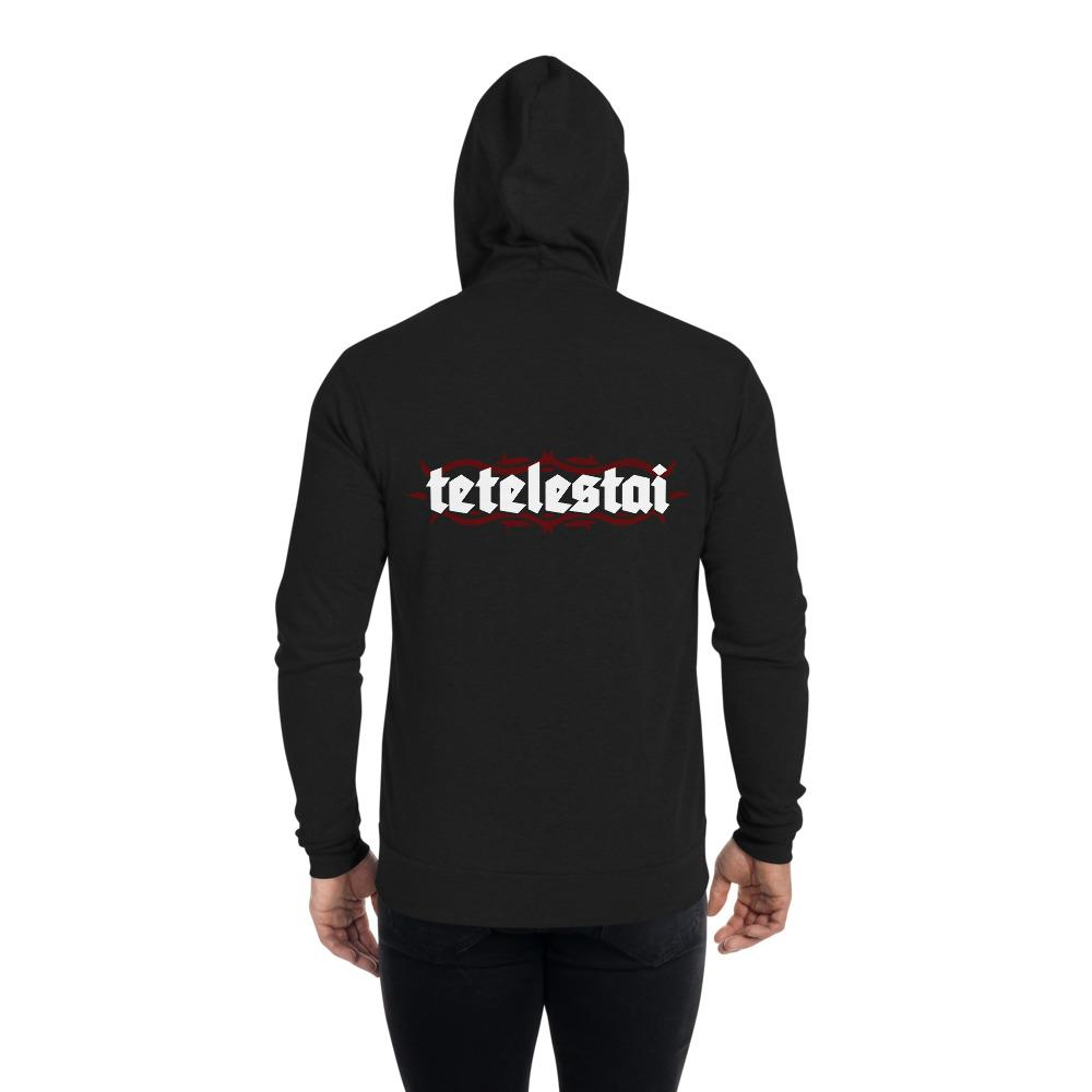 Tetelestai - Unisex zip hoodie - The Reformed Sage - reformed - reformed gifts - christian gifts - christian hoodie - christian apparel - christian decor - christian art -