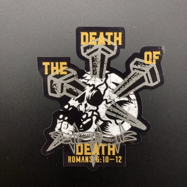 The Death of Death - Decal - Decal - The Reformed Sage - reformed - reformed gifts - christian gifts - christian hoodie - christian apparel - christian decor - christian art -